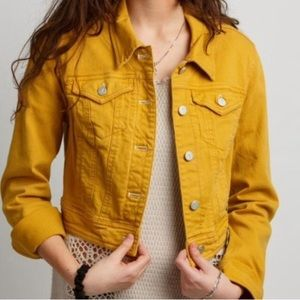 Pilcro and the Letterpress mustard denim jacket